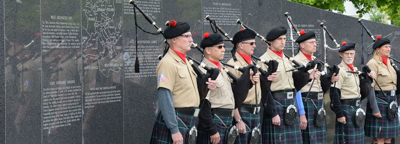 Wall of Rememberance during ceremony
