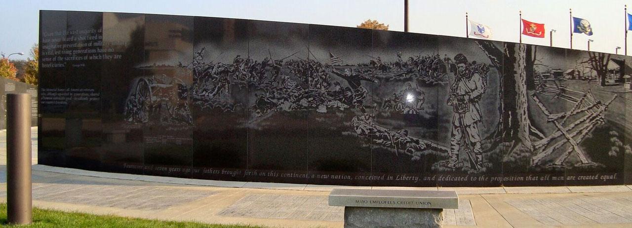 Veterans Banner on Wall
